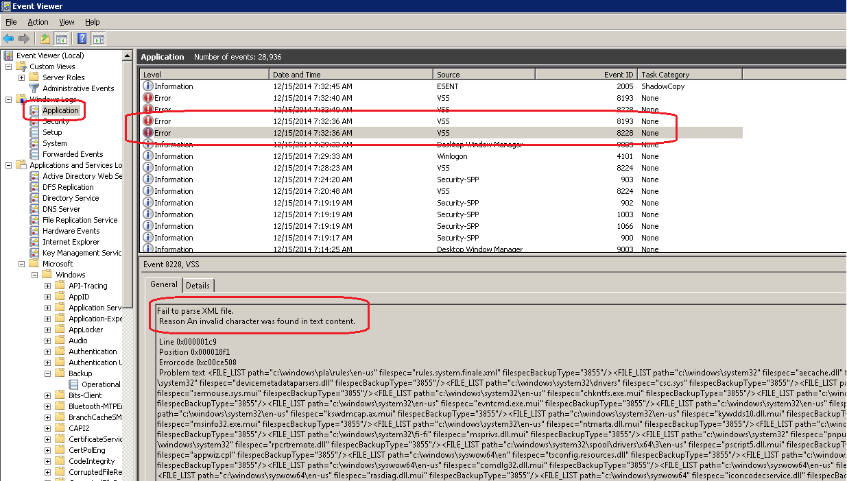 Event Viewer - Event ID 8228