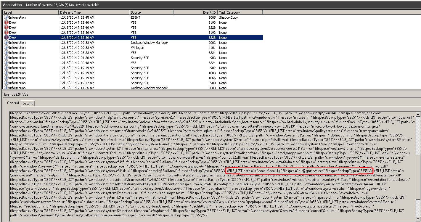 Event Viewer - Event ID 8228 - Invalid String