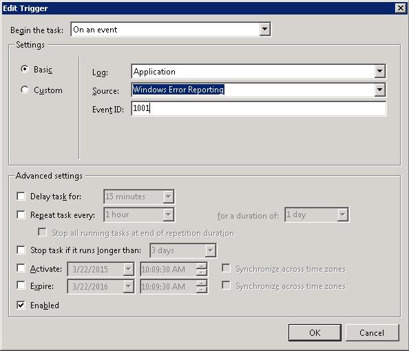 SharePoint Backup and PowerShell Crash Event ID 1001