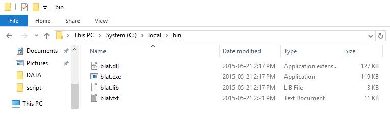 Bin Directory